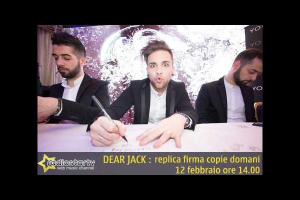 SANREMO 2015 : DEAR JEACK replica del firma copie Area Stile Youngblood