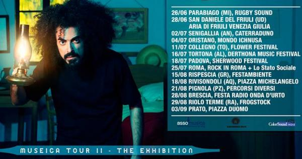 Caparezza  MUSEICA TOUR II - THE EXHIBITION riparte a GIUGNO