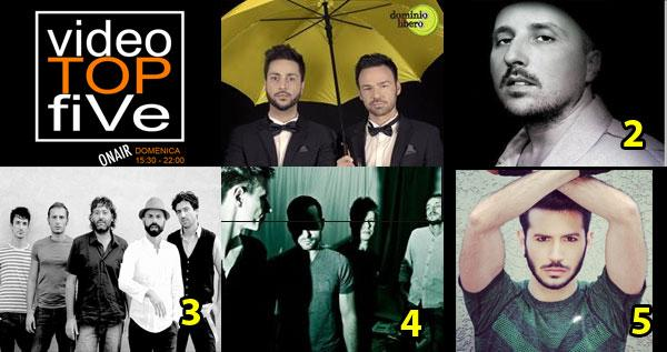 VideoTopFive, la video classifica dal 31.05.2015 al 06.06.2015