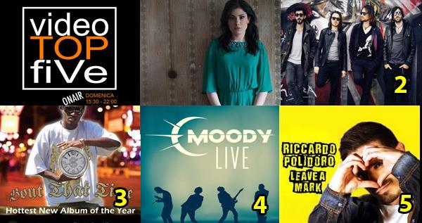 VideoTOPfiVe, la video classifica dal 12.07.2015 all' 18.07.2015