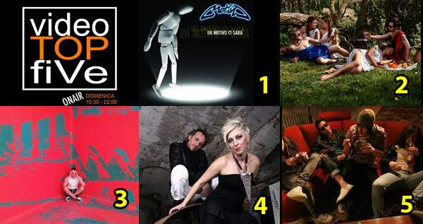 VideoTOPfiVe, la video classifica dal 09.08.2015 al 15.08.2015