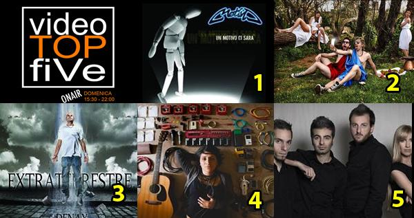 VideoTOPfiVe, la video classifica dal 23.08.2015 al 29.08.2015