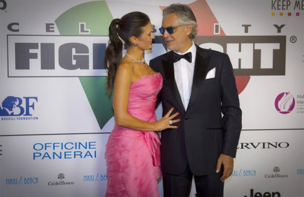 ANDREA BOCELLI raccolti 13 milioni di dollari al CELEBRITY FIGHT NIGHT ITALY