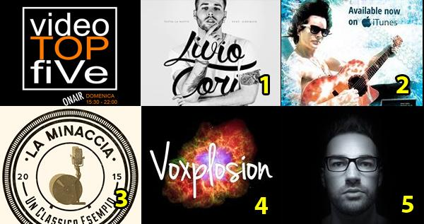 VideoTOPfiVe, la video classifica dal 04.10.2015 al 10.10.2015