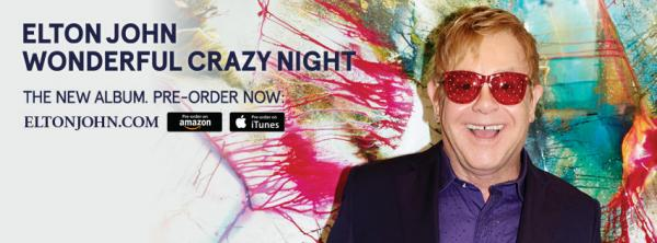 ELTON JOHN da oggi in preorder l album WONDERFUL CRAZY NIGHT