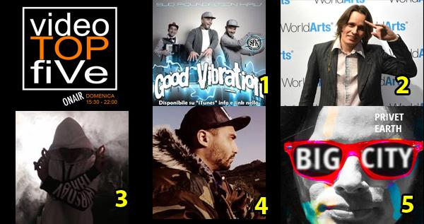 VideoTOPfiVe, la video classifica dal 02.01.2016 al 09.01.2016