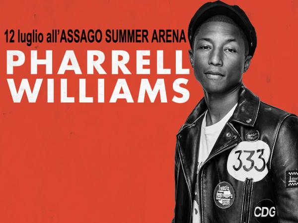 PHARRELL WILLIAMS live all ASSAGO SUMMER ARENA