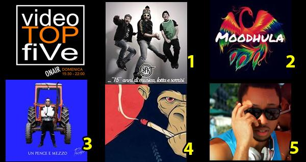 VideoTOPfiVe, la video classifica dal 02.10.2016 – 08.10.2016