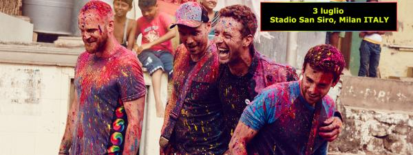 COLDPLAY a luglio la tappa italiana del A Head Full Of Dreams Tour