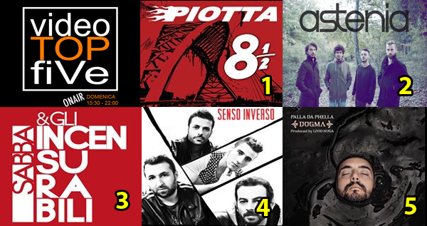 VideoTOPfiVe, la video classifica dal 21.05.2017 – 27.05.2017