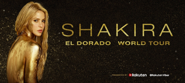 SHAKIRA in arrivo in Italia con EL DORADO WORLD TOUR